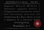 Image of William J Simmons of KKK Washington DC USA, 1921, second 1 stock footage video 65675052456