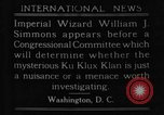 Image of William J Simmons of KKK Washington DC USA, 1921, second 6 stock footage video 65675052456