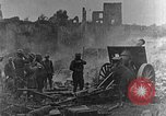 Image of British infantry soldiers firing artillery World War 1 Europe, 1916, second 2 stock footage video 65675052474