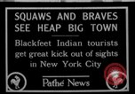 Image of Blackfoot Indians visit New York City Mayor Walker New York City USA, 1927, second 1 stock footage video 65675052488