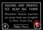 Image of Blackfoot Indians visit New York City Mayor Walker New York City USA, 1927, second 5 stock footage video 65675052488