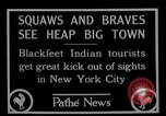 Image of Blackfoot Indians visit New York City Mayor Walker New York City USA, 1927, second 9 stock footage video 65675052488
