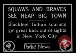 Image of Blackfoot Indians visit New York City Mayor Walker New York City USA, 1927, second 10 stock footage video 65675052488