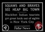 Image of Blackfoot Indians visit New York City Mayor Walker New York City USA, 1927, second 11 stock footage video 65675052488