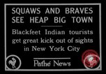 Image of Blackfoot Indians visit New York City Mayor Walker New York City USA, 1927, second 12 stock footage video 65675052488