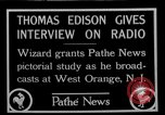 Image of Thomas Edison West Orange New Jersey USA, 1927, second 1 stock footage video 65675052489