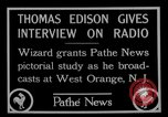 Image of Thomas Edison West Orange New Jersey USA, 1927, second 2 stock footage video 65675052489