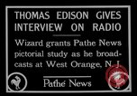 Image of Thomas Edison West Orange New Jersey USA, 1927, second 8 stock footage video 65675052489