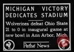 Image of First football game in 1927 at new Michigan Stadium Ann Arbor Michigan USA, 1927, second 2 stock footage video 65675052490