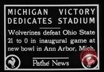 Image of First football game in 1927 at new Michigan Stadium Ann Arbor Michigan USA, 1927, second 4 stock footage video 65675052490