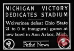 Image of First football game in 1927 at new Michigan Stadium Ann Arbor Michigan USA, 1927, second 8 stock footage video 65675052490