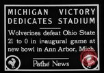 Image of First football game in 1927 at new Michigan Stadium Ann Arbor Michigan USA, 1927, second 10 stock footage video 65675052490
