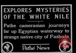 Image of People of Sudan along Nile River Fashoda Sudan, 1927, second 3 stock footage video 65675052492