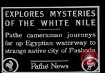 Image of People of Sudan along Nile River Fashoda Sudan, 1927, second 4 stock footage video 65675052492
