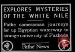 Image of People of Sudan along Nile River Fashoda Sudan, 1927, second 5 stock footage video 65675052492