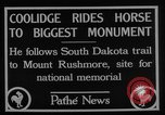 Image of President Calvin Coolidge at Mount Rushmore Black Hills South Dakota USA, 1927, second 12 stock footage video 65675052493