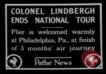 Image of Philadelphia arade for Charles Lindbergh Philadelphia Pennsylvania USA, 1927, second 1 stock footage video 65675052494