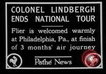 Image of Philadelphia arade for Charles Lindbergh Philadelphia Pennsylvania USA, 1927, second 5 stock footage video 65675052494
