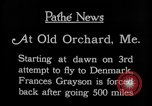 Image of female pilot Frances Grayson Old Orchard Maine USA, 1927, second 2 stock footage video 65675052496