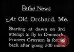 Image of female pilot Frances Grayson Old Orchard Maine USA, 1927, second 6 stock footage video 65675052496