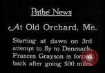Image of female pilot Frances Grayson Old Orchard Maine USA, 1927, second 8 stock footage video 65675052496