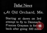 Image of female pilot Frances Grayson Old Orchard Maine USA, 1927, second 12 stock footage video 65675052496
