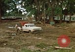 Image of wrecked trailer homes Rapid City South Dakota USA, 1972, second 11 stock footage video 65675052518