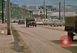 Image of convoy of National Guard trucks Rapid City South Dakota USA, 1972, second 2 stock footage video 65675052523