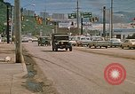 Image of convoy of National Guard trucks Rapid City South Dakota USA, 1972, second 3 stock footage video 65675052523