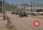 Image of convoy of National Guard trucks Rapid City South Dakota USA, 1972, second 8 stock footage video 65675052523