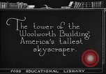 Image of Woolworth Building New York City USA, 1918, second 1 stock footage video 65675052547