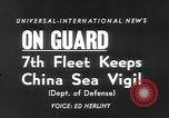 Image of ships of Seventh Fleet China Sea, 1955, second 4 stock footage video 65675052563