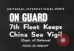 Image of ships of Seventh Fleet China Sea, 1955, second 6 stock footage video 65675052563