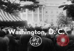 Image of President Eisenhower Washington DC USA, 1955, second 4 stock footage video 65675052565