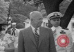 Image of President Eisenhower Washington DC USA, 1955, second 11 stock footage video 65675052565