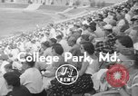 Image of lacrosse game College Park Maryland USA, 1955, second 5 stock footage video 65675052568
