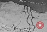Image of map of Africa El Alamein Egypt, 1944, second 4 stock footage video 65675052596