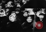 Image of massed crowd parading Moscow Russia Soviet Union, 1924, second 7 stock footage video 65675052607