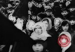 Image of massed crowd parading Moscow Russia Soviet Union, 1924, second 8 stock footage video 65675052607