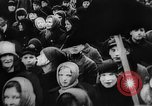 Image of massed crowd parading Moscow Russia Soviet Union, 1924, second 9 stock footage video 65675052607
