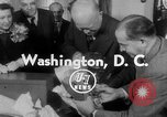 Image of President Eisenhower Washington DC White House USA, 1954, second 2 stock footage video 65675052626