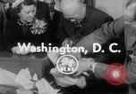 Image of President Eisenhower Washington DC White House USA, 1954, second 3 stock footage video 65675052626