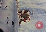 Image of US submarine rescues Japanese survivors at sea Pacific Ocean, 1945, second 12 stock footage video 65675052639