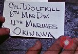 Image of 6th Marine Division 4th Marines Okinawa Ryukyu Islands, 1945, second 3 stock footage video 65675052853