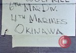 Image of 6th Marine Division 4th Marines Okinawa Ryukyu Islands, 1945, second 1 stock footage video 65675052855