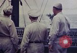 Image of Naval officer Commodore Herbert Knowles Okinawa Ryukyu Islands, 1945, second 1 stock footage video 65675052858