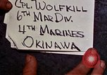 Image of 1st Battalion 4th Marines Okinawa Ryukyu Islands, 1945, second 3 stock footage video 65675052864