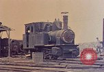 Image of demolished Japanese locomotive Naha Okinawa Ryukyu Islands, 1945, second 6 stock footage video 65675052874