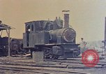 Image of demolished Japanese locomotive Naha Okinawa Ryukyu Islands, 1945, second 12 stock footage video 65675052874