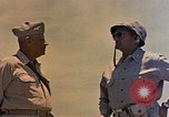 Image of Generals Geiger and del Valle Mobuni Okinawa Ryukyu Islands, 1945, second 6 stock footage video 65675052903